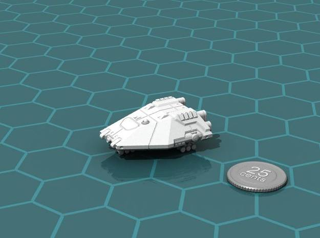Planet Hopper 3d printed Render of the model, with a virtual quarter for scale.