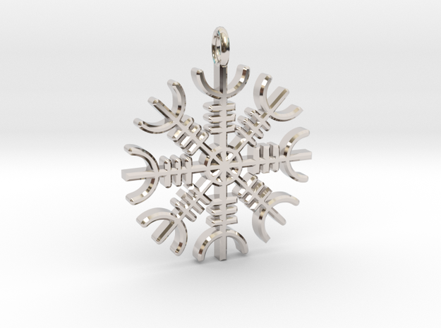 Helm Of Awe in Rhodium Plated Brass