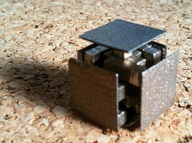 Steady State 12mm 3d printed Steady State cube in metal