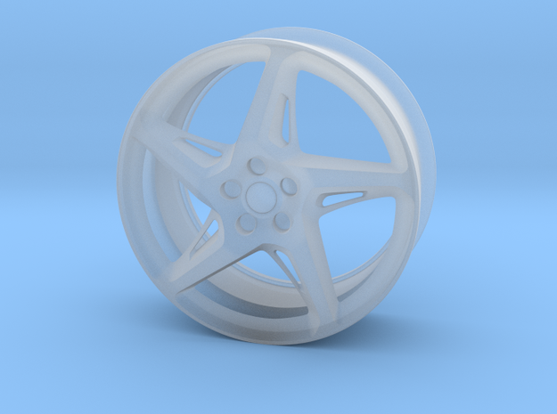 Ferrari 458 Wheel in Smooth Fine Detail Plastic