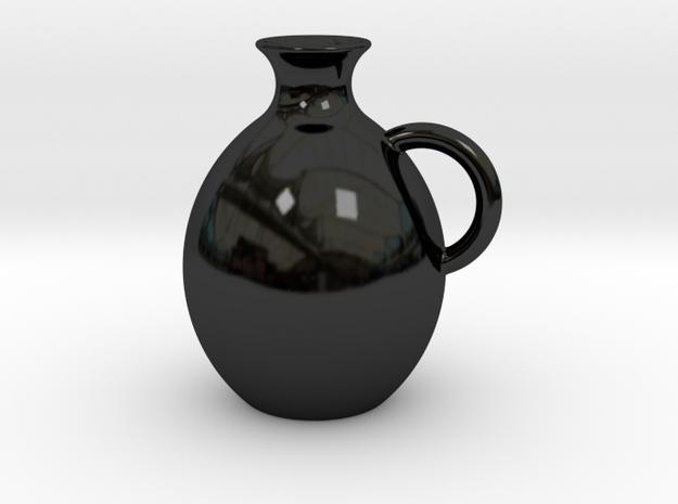 Decanter 0.5L in Gloss Black Porcelain