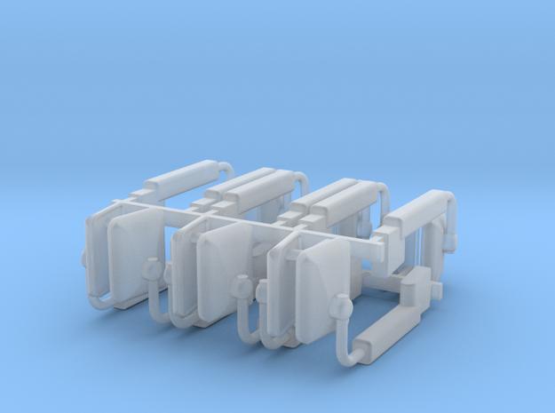 (6) MODERN POWER ADJUST MIRROR SETS in Smooth Fine Detail Plastic