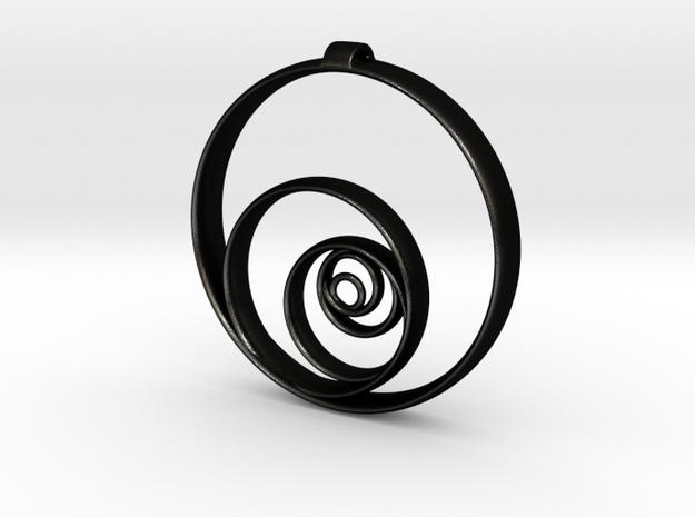Aurea_Pendant in Matte Black Steel