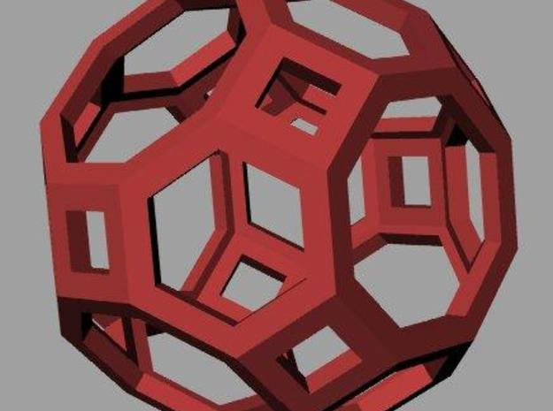 Truncated cuboctahedron 3d printed Rendering