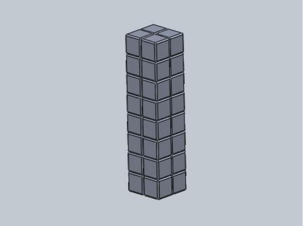 2x2x8 Rubiks Cube 3d printed Description