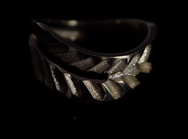 Palm ring external in 18k Gold Plated: 1.5 / 40.5
