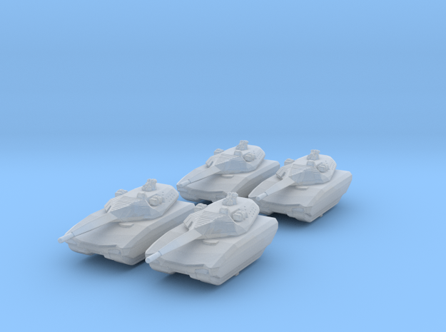 1/285 (6mm) Polish PL-01 Light Tank Prototype x4