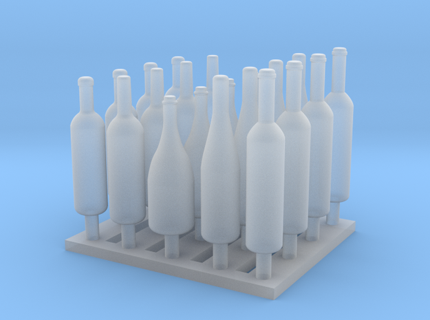 120mm or 1/15 Assorted Wine Bottles MSP15-001 in Smooth Fine Detail Plastic