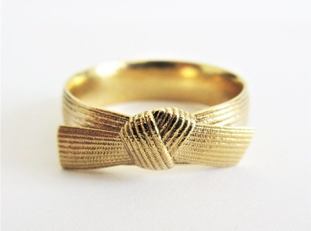 Detailed Martial Art Belt Ring  in 14K Gold: 8 / 56.75
