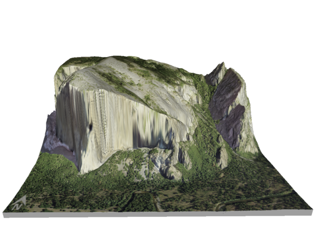 "El Capitan Map: 8.5""x11"" in Coated Full Color Sandstone"