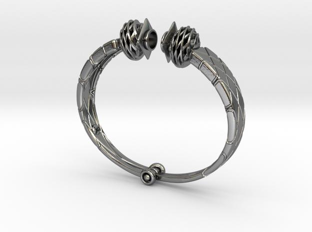 bracelet for Egyptian Fellah Woman in Interlocking Polished Silver