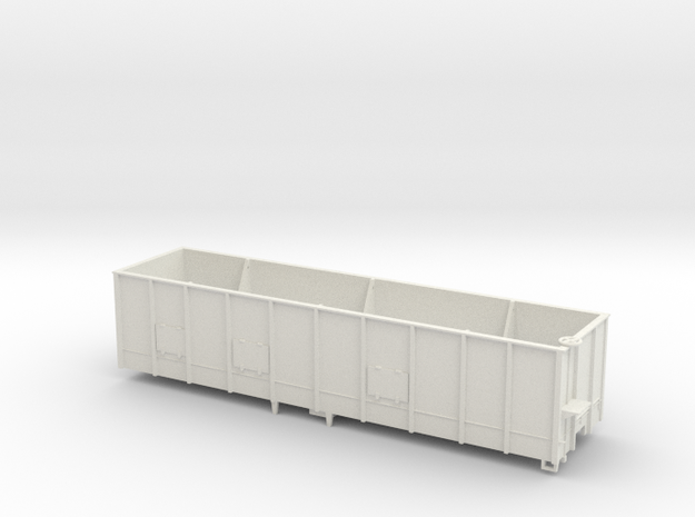 Hooper wagon for coal whith lateral doors in White Strong & Flexible