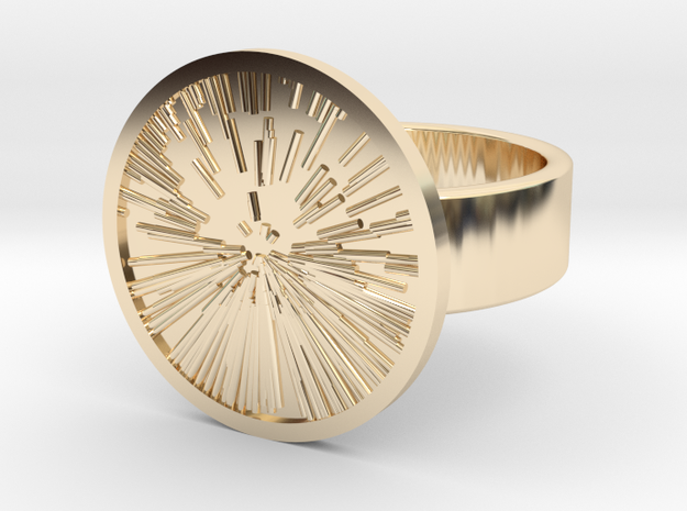 Star Zoom Ring in 14k Gold Plated Brass: 10 / 61.5