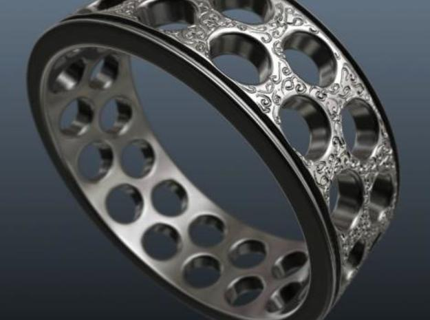 Crafted Ring 18mm 3d printed Render