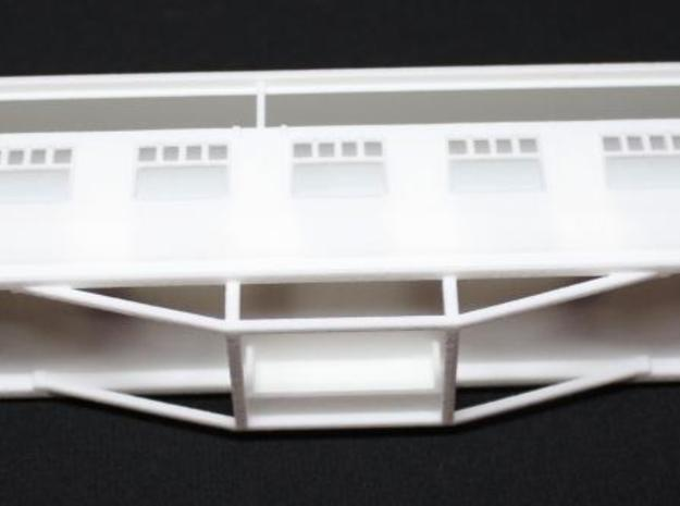 GNRi F16 coach, 4mm scale bodyshell and roof 3d printed
