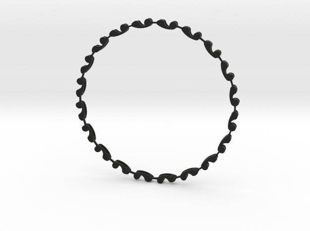 A Necklace called Sperm in Black Natural Versatile Plastic