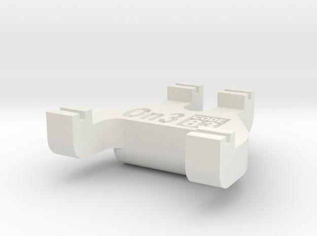 On3 Track Gauge - Code 83 in White Natural Versatile Plastic