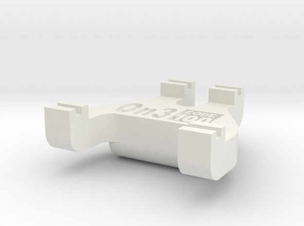 On3 Track Gauge - Code 100 in White Natural Versatile Plastic