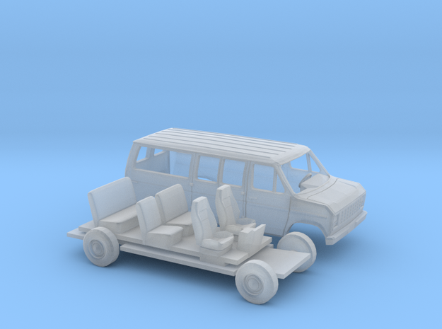 1/87 1975-91 Ford E-Series Van Kit in Smooth Fine Detail Plastic
