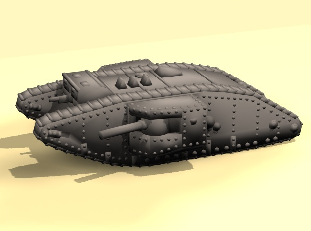 1/160 Mk.II Male tank in Smooth Fine Detail Plastic