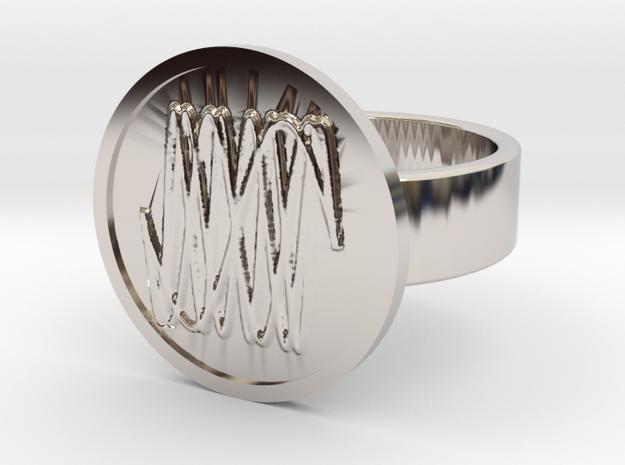 Harmonic Ring in Rhodium Plated Brass: 10 / 61.5