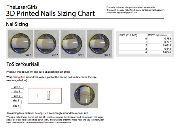 Cube Nails (Size 3) 3d printed DOWNLOAD SIZING CHART HERE:  https://www.dropbox.com/sh/ec9z2j5kbkhsmrr/NRj3pCqOZP