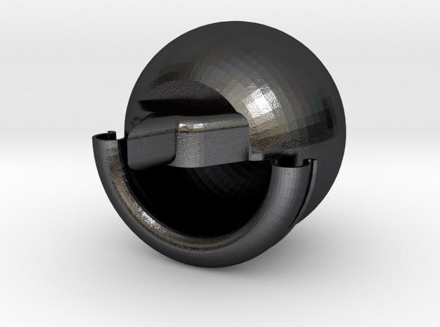 RAGNFO.STL in Polished Grey Steel