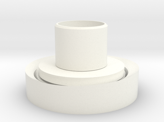 蘋果夜燈燈座.stl in White Strong & Flexible Polished: Small