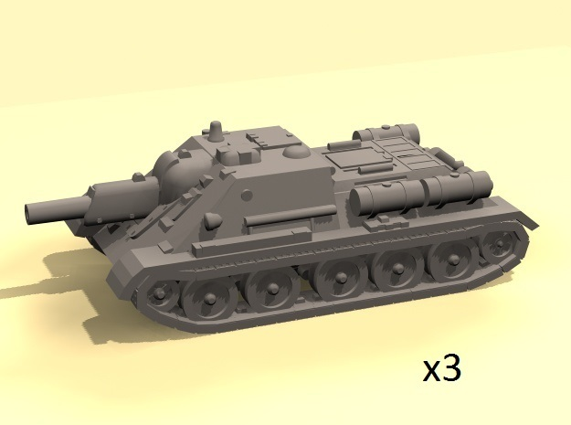 1/220 SU-122 SPG (3) in Smooth Fine Detail Plastic