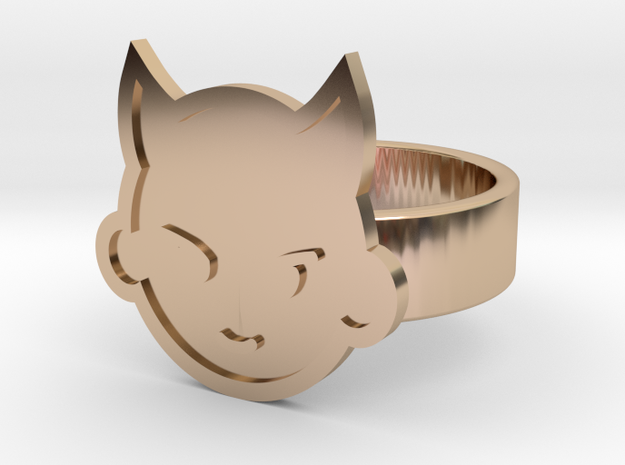 Imp Ring in 14k Rose Gold Plated Brass: 10 / 61.5