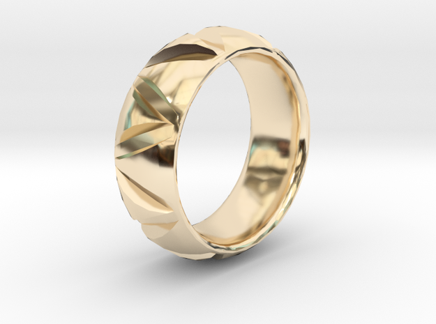 Triangle Band in 14k Gold Plated: 6 / 51.5