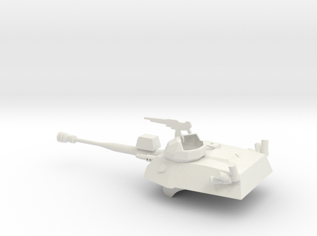 036G EE-9 Cascavel Turret 1/56 in White Strong & Flexible