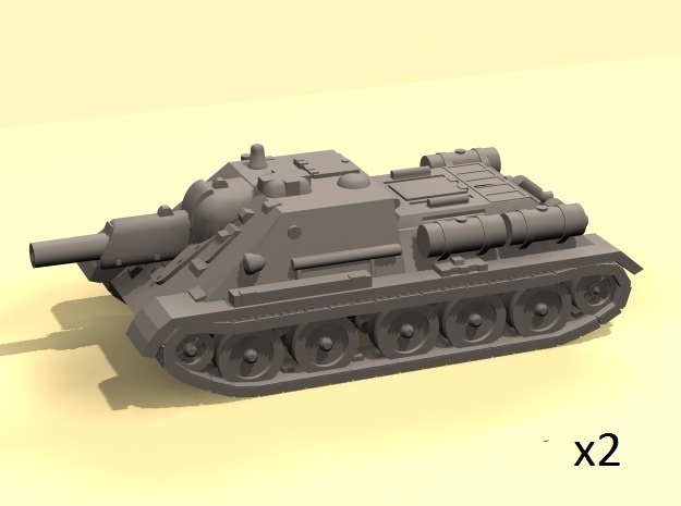 1/100 SU-122 SPG (2) in White Strong & Flexible