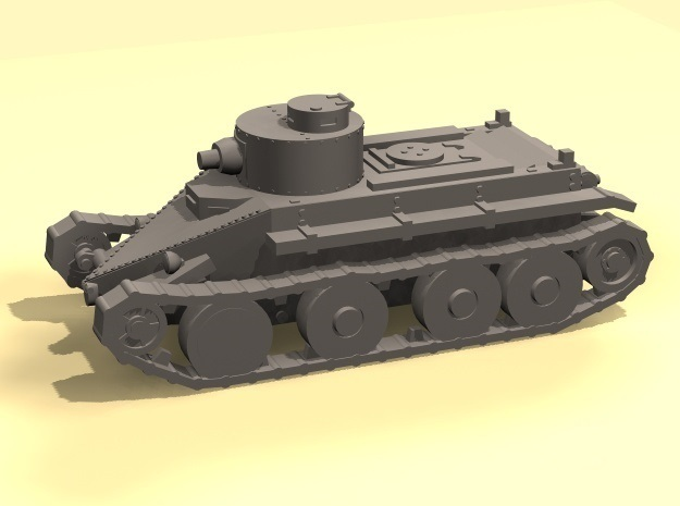 1/100 Christie T3 tank in Smooth Fine Detail Plastic