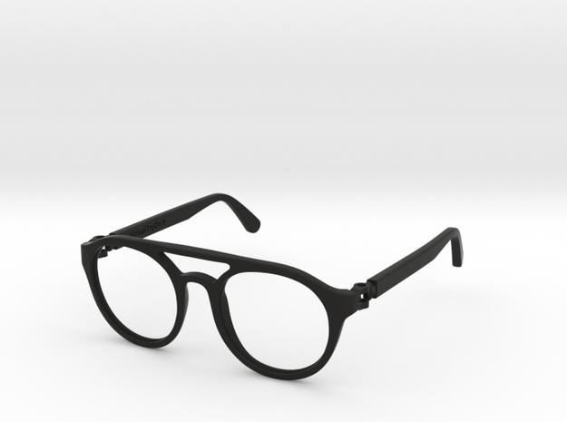 VirtualTryOn.fr Lunettes / Glasses : Enio in Black Natural Versatile Plastic