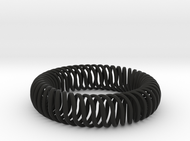 QUATTROSPiRALi in Black Natural Versatile Plastic: Small