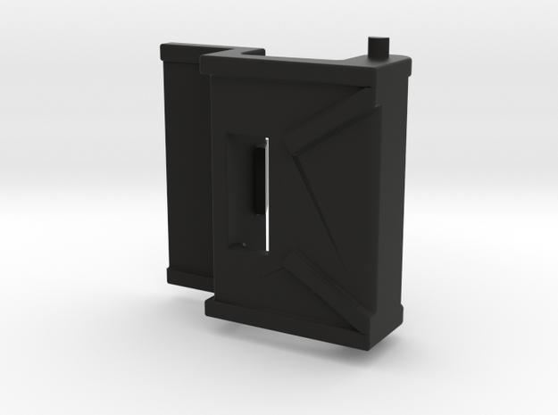 Putzkoffer-Verschlussclip / closure clip /plaster  in Black Natural Versatile Plastic
