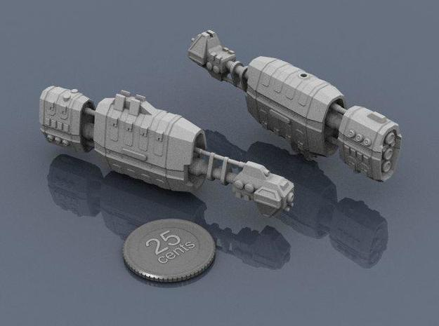 USASF Battlecruiser 3d printed Renders of the model, with a virtual quarter for scale.
