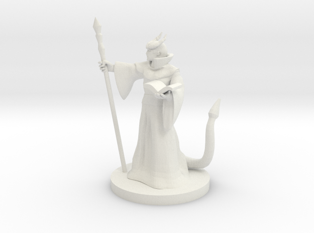 Tiefling Mage Male in White Strong & Flexible