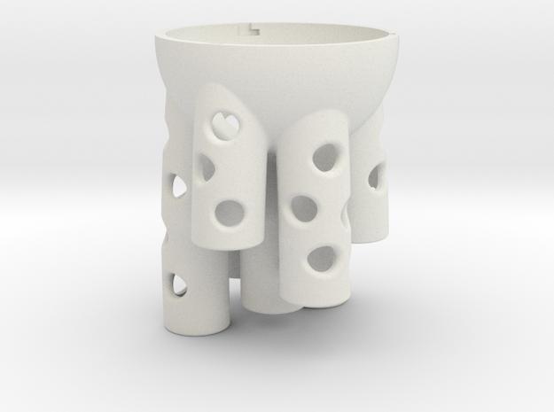 tube sponge in White Natural Versatile Plastic: Small
