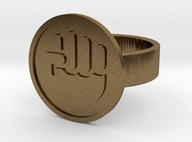 Raised Fist Ring in Natural Bronze: 10 / 61.5