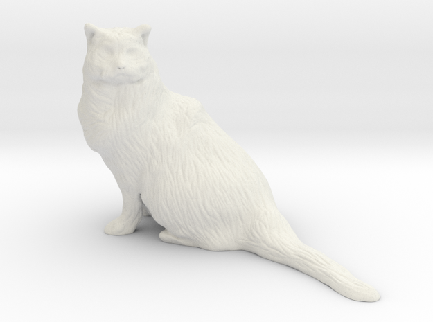 Birman Cat 001 - 350mm in White Natural Versatile Plastic