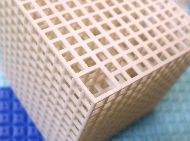 Maze 01, 6x6x6, 'Cube H' in White Strong & Flexible