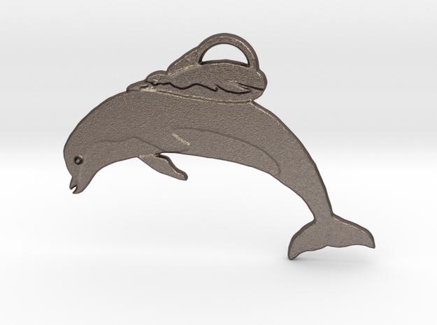 Unusual Ocean Friends in Polished Bronzed Silver Steel: Medium