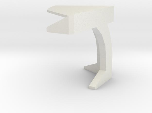 Console Type 5 (Star Trek) in White Natural Versatile Plastic: 1:30