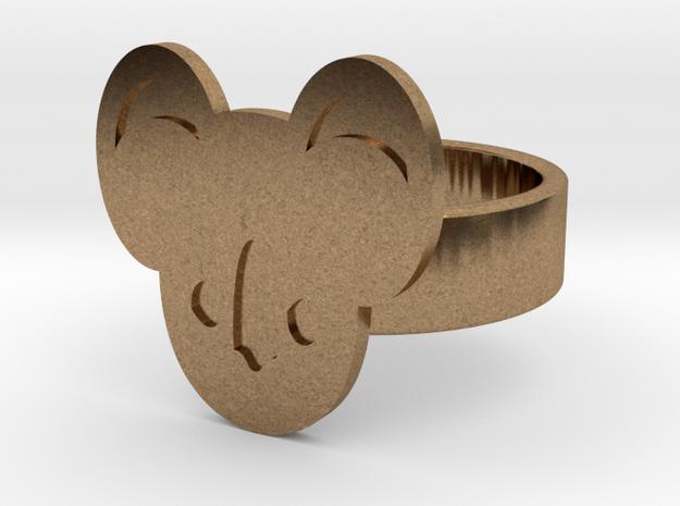Koala Ring in Raw Brass: 10 / 61.5