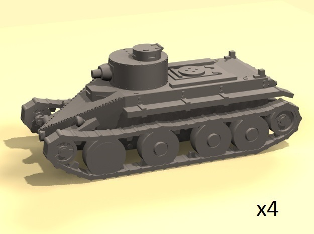 1/220 Christie T3 tank in Smoothest Fine Detail Plastic