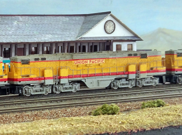 N Scale Alco C-855B Locomotive Shell in Smooth Fine Detail Plastic