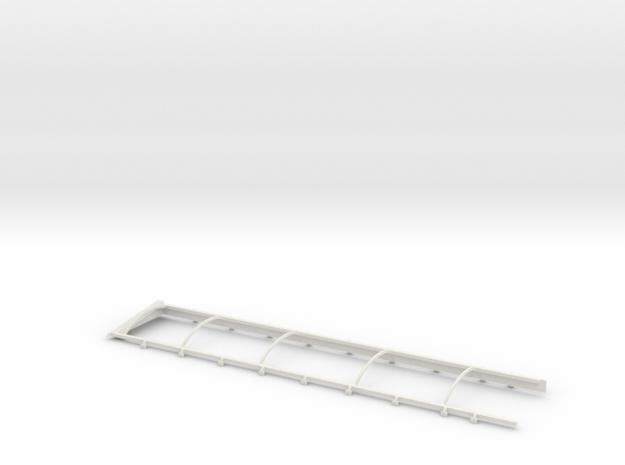1/64 Belt Trailer Extension and Tarp Frame in White Natural Versatile Plastic