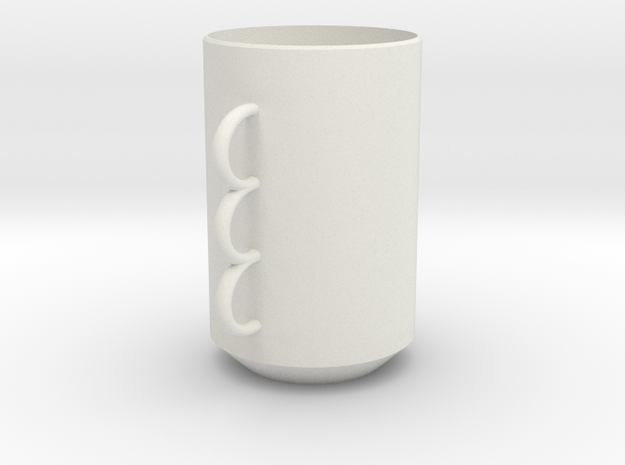 Just A Cup in White Natural Versatile Plastic